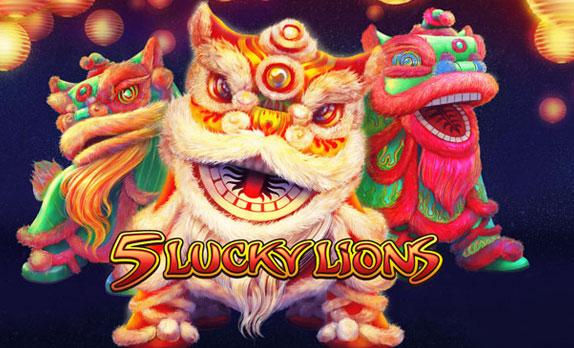 5 Lucky Lions เกมสล็อตจาก Habanero